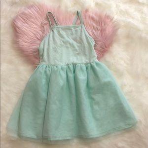 4T girls Mint Dress old navy ballerina style